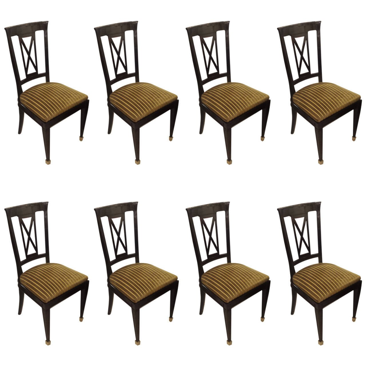 Super Set Of Eight Ebonized Dining Chairs In The Directoire Manner Pabps2019 Chair Design Images Pabps2019Com